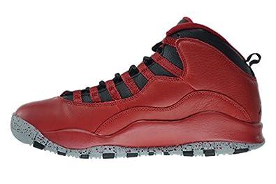 half off 0e45e 17672 Amazon.com   Jordan Air 10 Retro 30th Bulls Over Broadway Men s Shoes Gym  Red Black-Wolf Grey 705178-601   Basketball