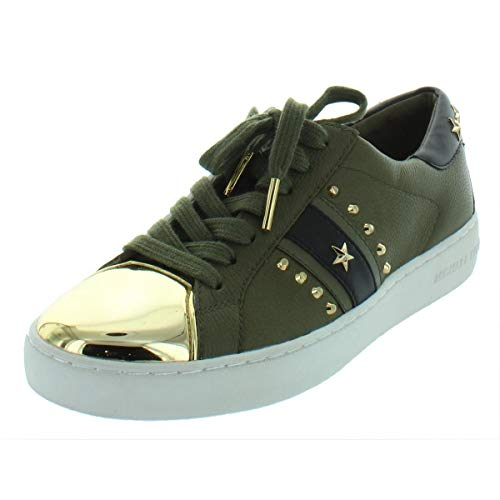 Michael Michael Kors Womens Frankie Fashion Sneakers Green 7.5 Medium (B,M) (Michael Kors Frankie)