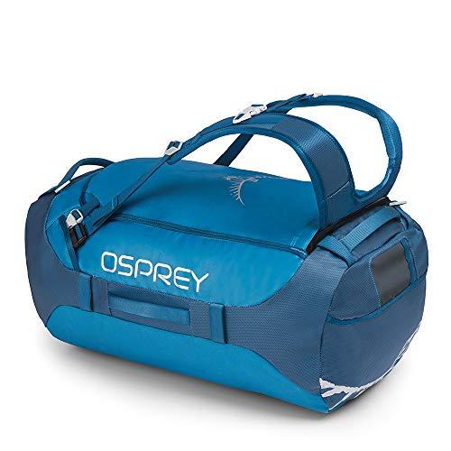 Osprey Transporter 65 strapazierfähige Duffel-Reisetasche mit Tragesystem und abnehmbarem, gepolstertem Schultergurt, unisex - Kingfisher Blue (O/S)