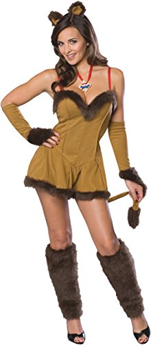 Cowardly Lioness - Secret Wishes  Women's Wizard of Oz Cowardly Lioness Costume, Tan/Brown, Small