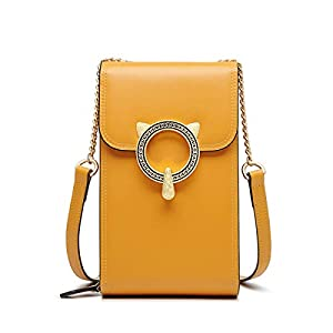 iFOXER Crossbody Phone Purses for Women Genuine Leather Ladies Mini Cross Body Bags