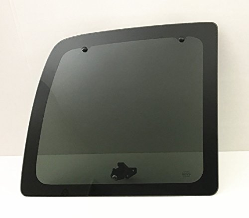 TYG Fits 1996-2018 GMC Savana,Chevrolet Express (1500 2500 3500) Van Driver Side Left Rear Back Glass Window Movable W/All Hardware