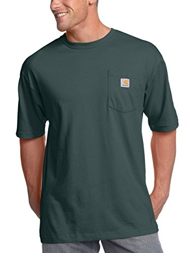 Carhartt Men's K87 Workwear Pocket Short Sleeve T-Shirt (Regular and Big & Tall Sizes), Hunter Green, - Weight T-shirt Medium Pocket