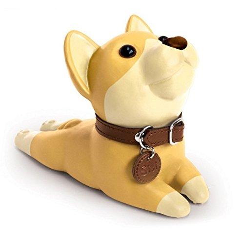 Bamboo's Grocery Cute Dog Door Stopper, Shiba Inu, Perfect Gift (Khaki)