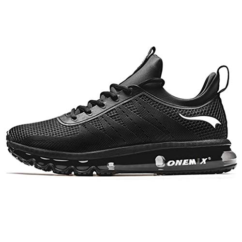 CocoBeen Sport Running Shoes Men Air Outdoor Max 270 Breathable Knitted Fly Athletic Professional Sneakers Light Black (Fly Max Football)