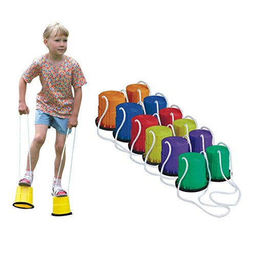 S&S WORLDWIDE Bucket Stilts Set (set of 6)