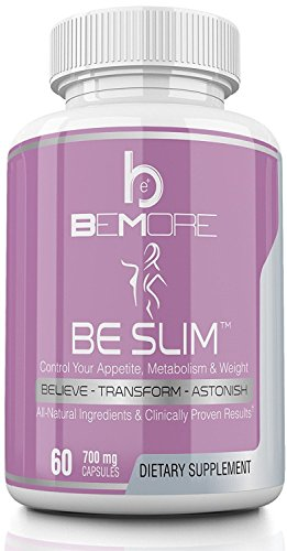BE Slim | 6-in-1 Natural Weight Loss + Appetite Control Supplement | Thermogenic | Burn Fat, Boost Metabolism, Increase Energy with Ketones, African Mango, Theobromine and L-Carnitine