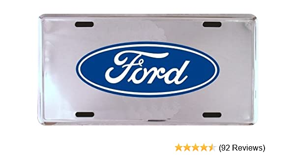 HangTime Ford Great Outdoors 6 x 12 metal auto tag with universal mounting slots Tag City