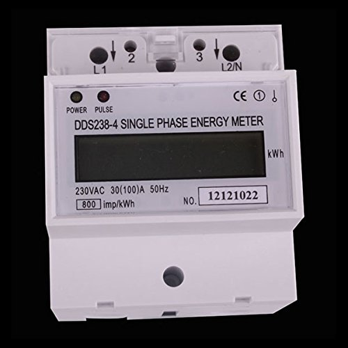 AC 230V 100A LCD DIN-rail Single Phase Kilowatt Hour kWh ...