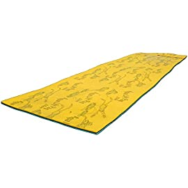 Maui Mat (by Aqua Lily Products, Floating Foam Fun Pad Designed for Water Recreation and Relaxing (20ft) 59 MAXIMIZE YOUR FUN: Enjoy the lakes, rivers, oceans and pools you love in a brand new way! BUOYANT: Measures 6 feet x 20 feet - Supports up to 1,300 pounds! So pile the family on, or stretch out and enjoy it to yourself. This pad will keep you floating! DURABLE: Our specially designed 2-layer cross linked foam material with patented FlexCore Technology measures only 1-3/8 inches thick, is designed to last even the most sun-filled summers. So get wet and cool off on the safest and most comfortable floating island.
