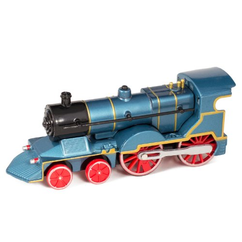 (Blue Cast Metal Classic Train Toy with Sounds and Lights)