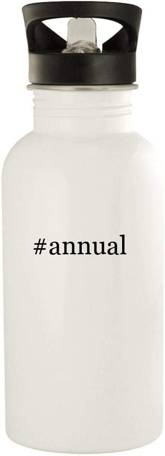 #annual - 20oz Stainless Steel Water Bottle, White 41VB8TpvR3L