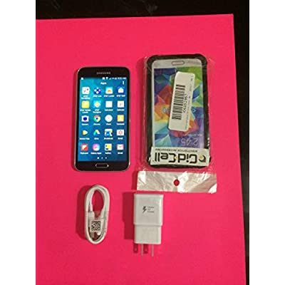 Samsung Galaxy S5 G900A 16GB Factory Unlocked Cellphone, Retail Packaging - Black