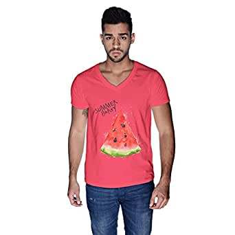 Creo Summer Party Beach T-Shirt For Men - M, Pink