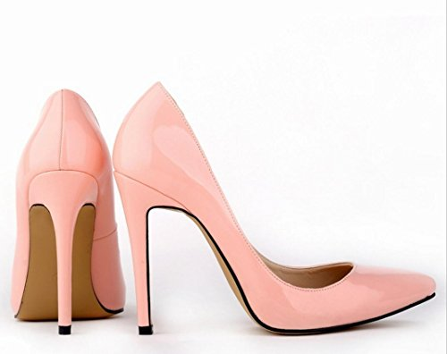 41 heels large banquet high heels ZCH Patent shoes dress female Pointed shoes wedding yards 42 leather high party U0SSTWZ