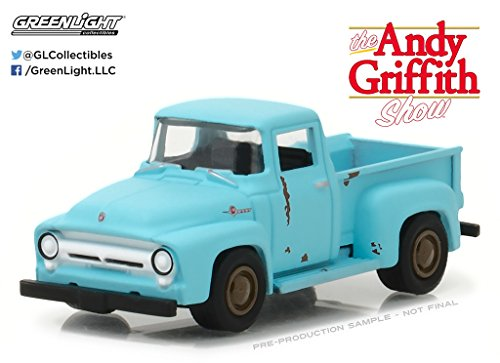New 1:64 Hollywood Series 17 Collection - THE ANDY GRIFFITH SHOW - BLUE 1956 FORD F-100 Diecast Model Car By Greenlight from Grenlight