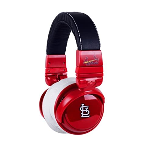 BiGR Audio MLB Licensed Over-ear Headphones with Mic, St. Louis Cardinals (Bigr Audio Cable)