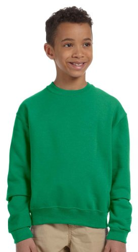 Jerzees Youth NuBlend® Crew Neck Sweatshirt - Kelly - L (Jerzees Sweatshirt 562b)