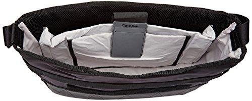 Calvin Klein Jeans Herren MADOX MESSENGER WITH FLAP Business Tasche Schwarz (Black)