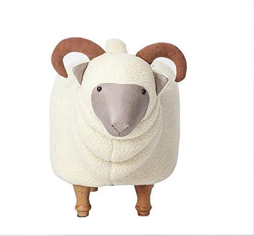 収納ベンチ クリエイティブ洗えるソファスツールオリジナル家具の動物の形の靴スツールデザイナーソリッドウッドフットスツールヤギ 柔軟 多用途 (Color : White, Size : 68x35x50cm)