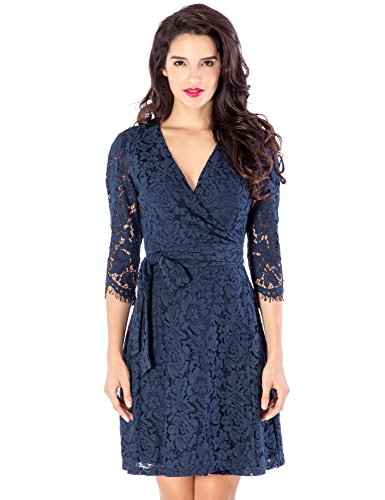 Lace Wrap Dress - 3