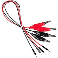 PGSA2Z™ Alligator Clip Wire with Pigtail (6 pcs - Pack) Breadboard Jumper Wire Male