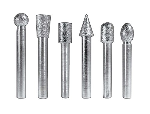 SE Diamond Burrs, 1/2'' Heads x 1/4'' Shank (6 pc) by SE