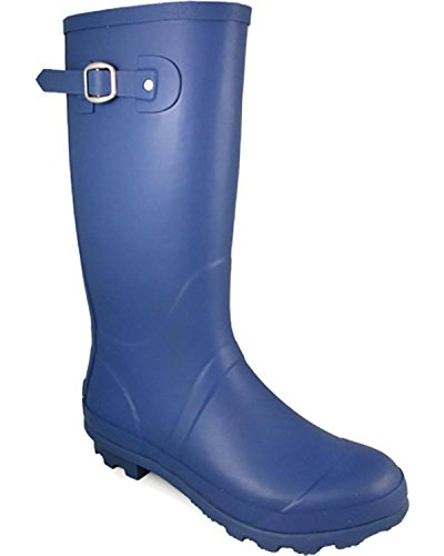 Blue Mountain Rain Boot (Smoky Mountain Women's Blue Rain Boot Round Toe Blue 10 M)
