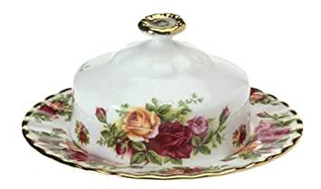 Royal Albert Old Country Roses Round Covered Butter Dish  sc 1 st  Amazon.com & Amazon.com | Royal Albert Old Country Roses Round Covered Butter ...