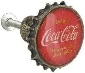 Coca Cola Cast Iron Door Handle Solid Metal Patina Finish Vintage Style Soda Ex