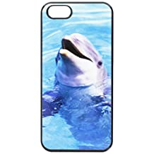 Graphics and More Dolphin Snap-On Hard Protective Case for iPhone 5/5s - Non-Retail Packaging - Black