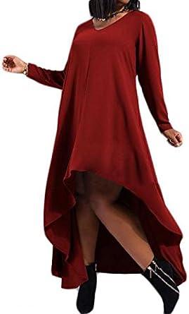 Vin rouge col en V Haut robe décolletée