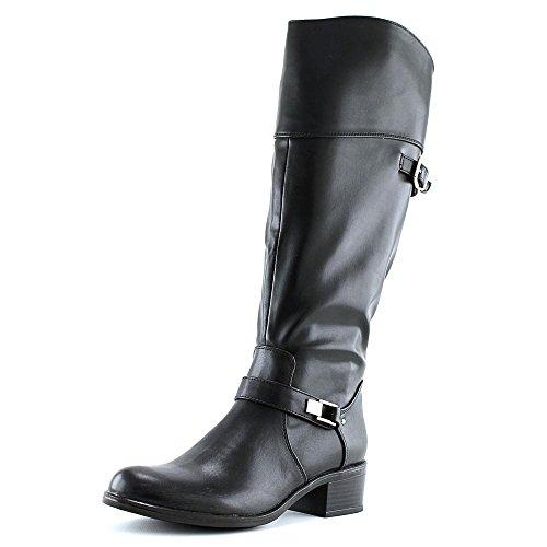 Alfani Femmes Fidoe Large Cuir De Veau Amande Orteil Genou Haute Couture Bottes Noir Wc