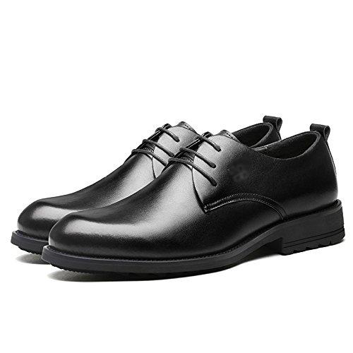 Pointu Classique Homme Véritable Cuir Black Entreprise Brun Oxford Formelle Lacets Bout Chaussures Mariage Casual Uniformes à Chaussures Derby Cx0wqdXC