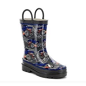 Western Chief Boys Waterproof Printed Rain Boot with Easy...