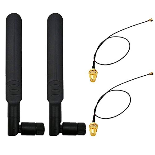 - WayinTop 2Set 8dBi 2.4GHz 5GHz Dual Band Wireless Network WiFi RP-SMA Female Antenna + 20cm U.FL/IPEX to RP-SMA Male Pigtail Cable for Mini PCIe Card Router Repeater Desktop PC FPV UAV Drone PS4