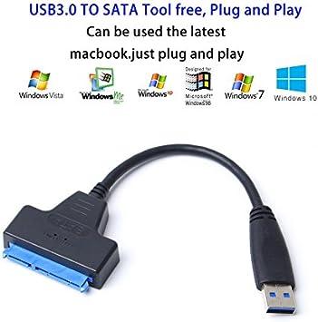 Cable Adaptador USB 3.0 a SATA para Discos SSD DE 2,5