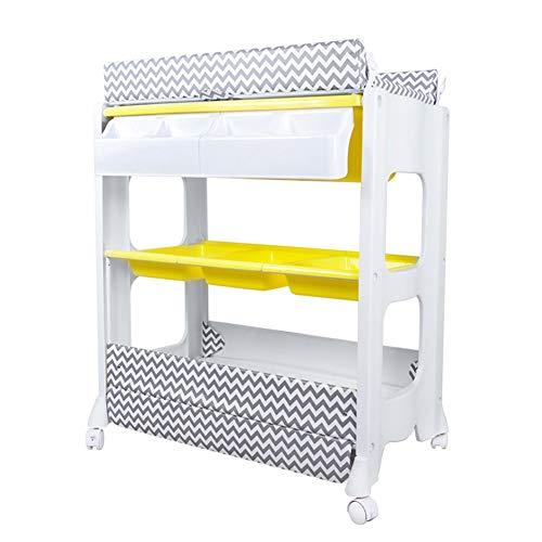 Mesa para cambiar pañales Cambio de estación de mesa y unidad de bañera, cama para masajes para bebés, cambiador...