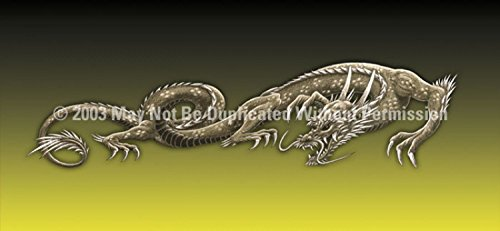 Clearvue Graphics Window Graphic - 30x65 Dragon Tattoo Yellow - 30 X 65 Dragon