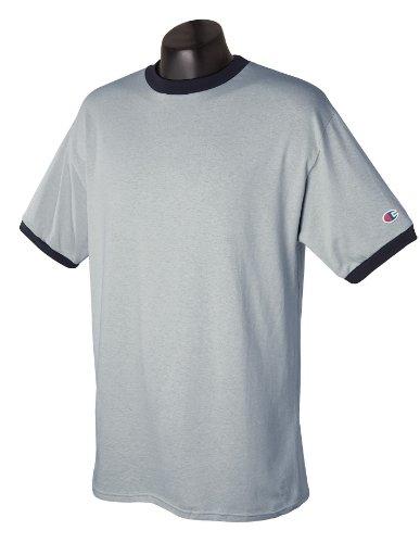 Contrasto Bordini T Champion Stile A black shirt Da Oxford Con Gray Uomo Oxford B0gzW0