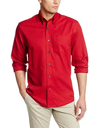 Cutter & Buck Men's Epic Easy Care Nailshead Shirt, Cardinal Red, Small