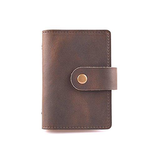 UPC 608408966326, ZE Genuine Leather Wallets Credit Card Holder Business ID Card Case (Dark Brown)