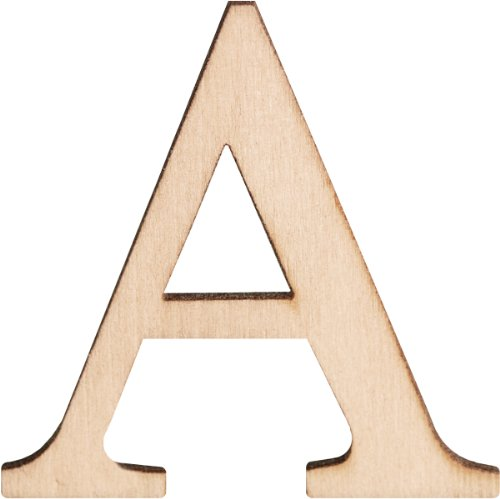 Walnut Hollow Wood Letters and Numbers, 1.5-Inch, A, 2 Per Package