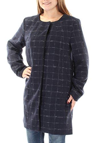Alfani Navy Grid Print Women's Medium Basic Jacket Blue M (Alfani Womens Jacket)