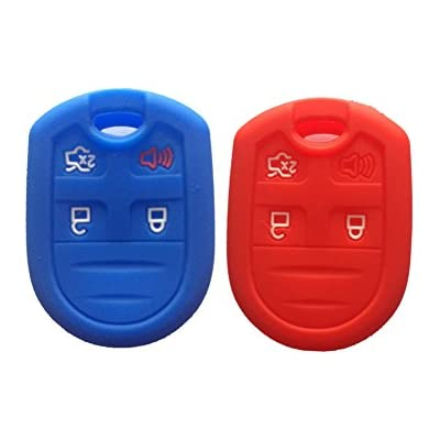 red-and-navy-blue-silicone-key-fob