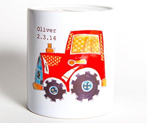 Trinkbecher, für Kinder, Traktor-Motiv, Kunststoff, personalisierbar
