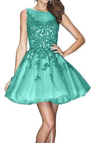 Brau La Spitze Cocktailkleider Abendkleider Kurzes Tanzenkleider Gruen Minze mia Promkleider Glamour Jugendweihe Mini Kleider 5g56q