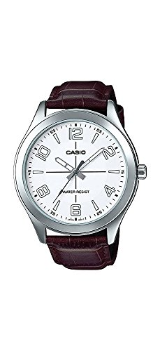 Casio-MTP-VX01L-7B-Mens-Standard-Leather-Band-Big-Case-White-Dial-Watch