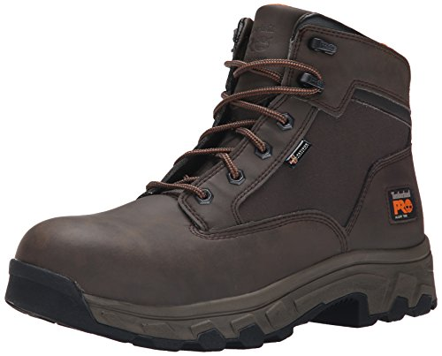 Timberland PRO Men's 6 Inch Linden Alloy Toe Work Boot, Brown Clarino Microfiber, 12 M US