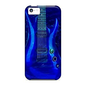 Hot Fashion IiY19611cwDt Design Cases Covers For Iphone 5c Protective Cases (blue Guitar)